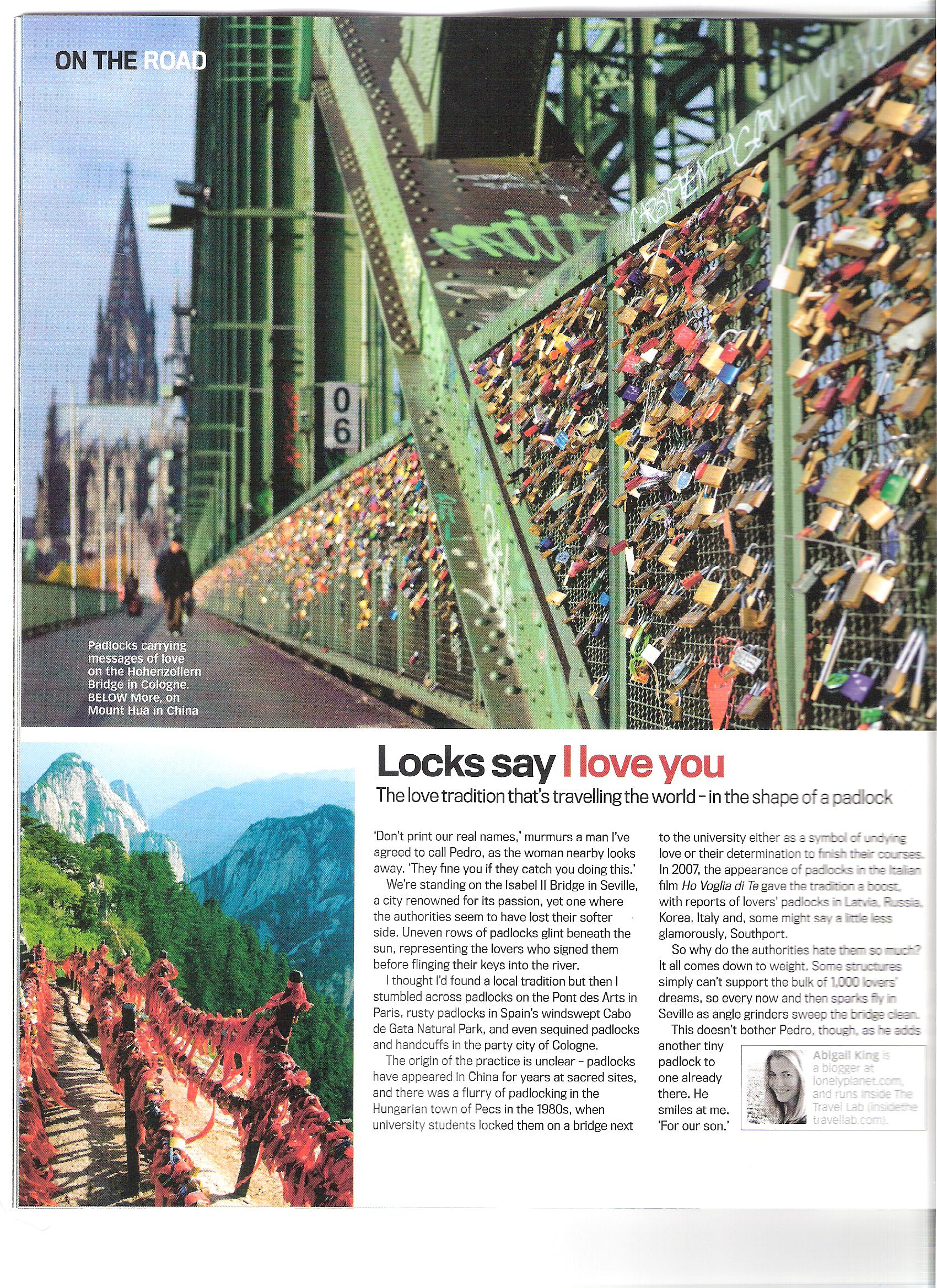 Lonely Planet Love Locks