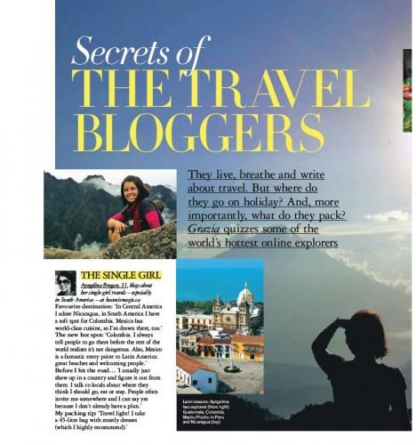 Grazia - top travel bloggers