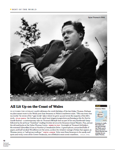 National Geographic Traveler Dylan Thomas by Abigail King